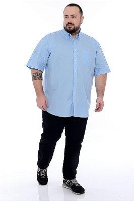 Camisa Social Manga Curta Plus Size Estevao