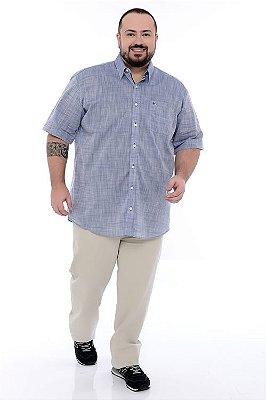 Camisa Social Manga Curta Plus Size Tadeu
