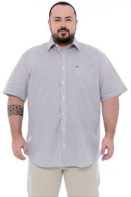 Camisa Social Manga Curta Plus Size Otto