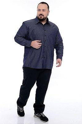Camisa Social Manga Curta Plus Size Aloisio
