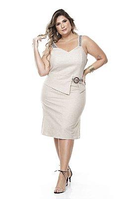 Vestido de Linho Plus Size Charmaine
