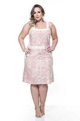 Vestido de Linho Plus Size Beatrix
