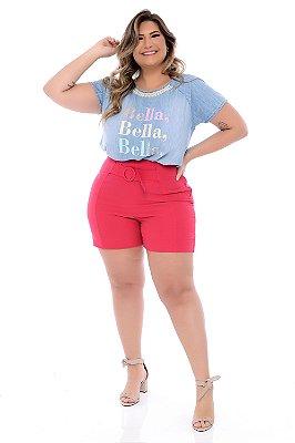 Shorts Crepe Plus Size Daniela