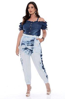 Calça Jeans Jogger Plus Size Jaide