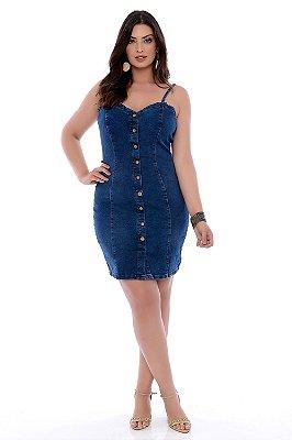 Vestido Jeans Plus Size Irha