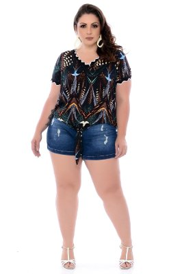 Shorts Jeans Plus Size Janae