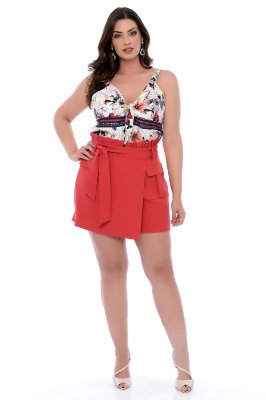 Shorts Saia Plus Size Jhencie