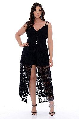 Vestido Macaquinho Plus Size Jhulya