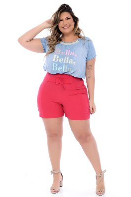 Blusa Jeans Plus Size Karely