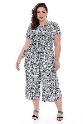 Calça Pantacourt Plus Size Melany