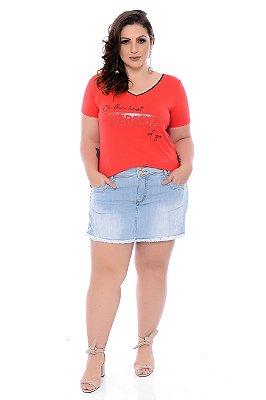 Shorts Saia Jeans Plus Size Cecilie