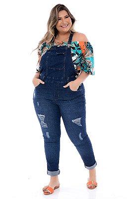 Macacão Jeans Plus Size Katrin