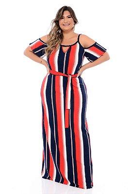Vestido Longo Plus Size Chirly