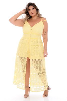 Vestido Macaquinho Plus Size Kely