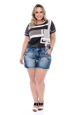 Shorts Jeans Plus Size Shany