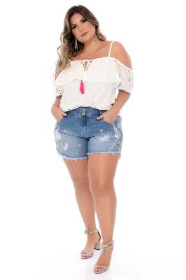 Shorts Jeans Plus Size Ramla