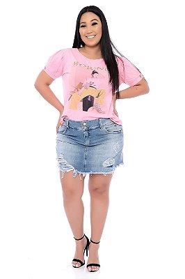 Shorts Saia Jeans Plus Size Maisha