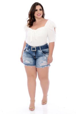 Shorts Jeans Plus Size Leiza