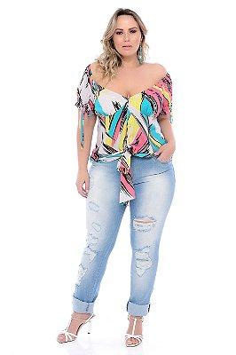 Calça Skinny Jeans Plus Size Bethah