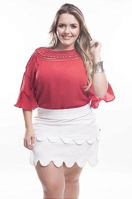 Blusa Plus Size Alice Vermelha
