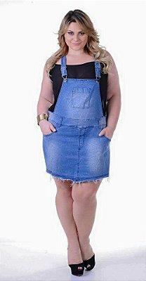 Jardineira Plus Size Shorts Saia Aline