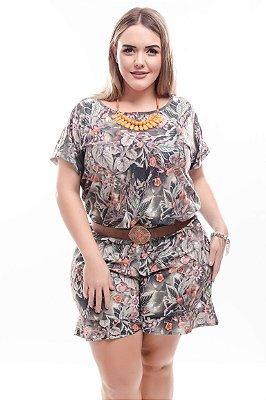 Macaquinho Plus Size Maria Fernanda