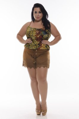 Shorts Plus Size Maria Flor