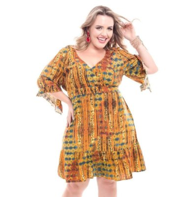 Vestido Plus Size Rosimary