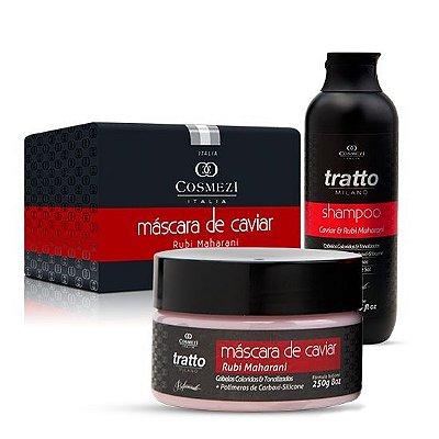 Kit Tratto Recuperação Imediata Caviar para Cabelos Coloridos e Tonalizados -