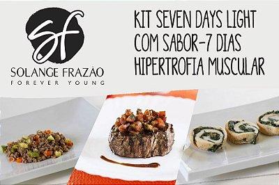 Kit Seven Days Light com Sabor -7 dias  - 1320 Kcal Hipertrofia Muscular