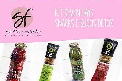 Kit Seven Days Snacks e Sucos Detox - 14 dias -  228 Kcal