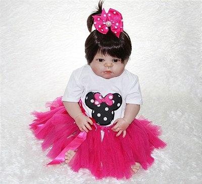 Bebe Reborn Minnie Em Silicone  Pronta entrega