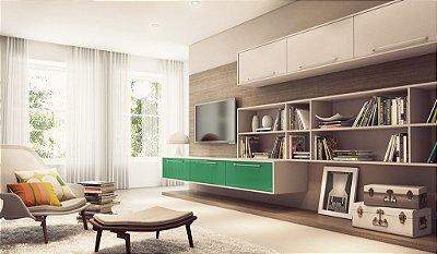 Home Planejado com Portas Linha Color - Linha Premium - MM Móveis Planejados