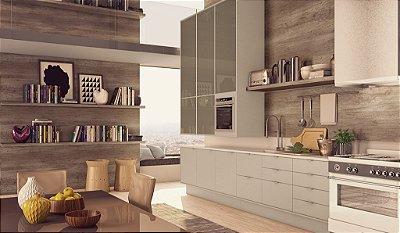 Cozinha Master Planejada com Portas Linha Color - Linha Premium - MM Móveis Planejados