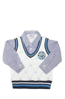 Colete Com Falsa Camisa Kiki