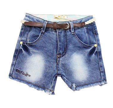 Shorts Jeans Infantil Feminino Mily