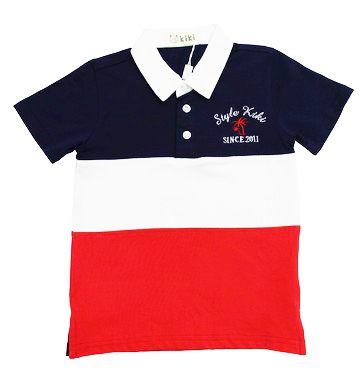 Camiseta Polo Tri color Masculina Kiki
