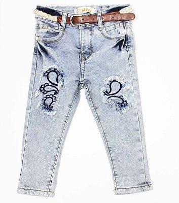 Calça Jeans Bebê Mily