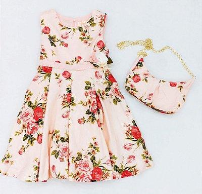 Vestido Floral Mily Com Bolsa