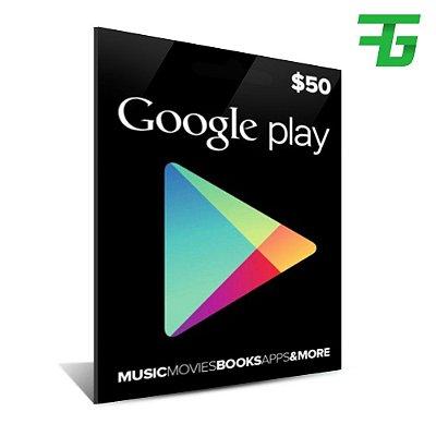 Google Play $50 Dólares 184,90