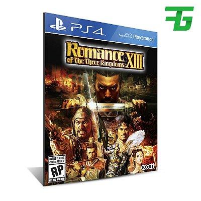 ROMANCE OF THE THREE KINGDOMS 13 PS4 - MÍDIA DIGITAL