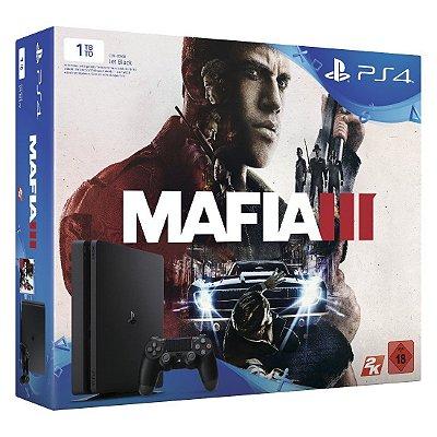 Console Ps4 Slim 1TB Bundle Mafia 3