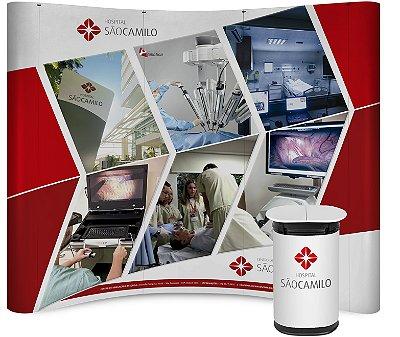 Painel Pantográfico 270X230 CM Com Impressão - Case Personalizado