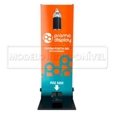 Totem Porta Álcool Gel Personalizado 100CM