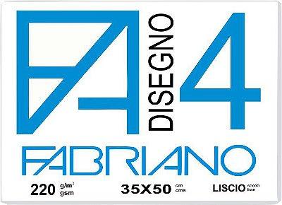Papel Fabriano 4 Liscio 35 x 50 ( 05 Folhas em Semi-Bloco)