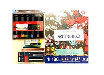 Kit Andrarte Para Desenhos A Lápis De Cor