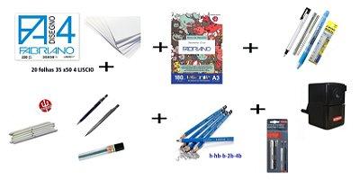 kit curso de Desenho Andrarte