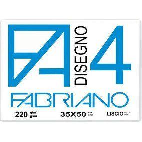Papel Fabriano 4 Liscio 35 x 50 em Bloco Novo Formato