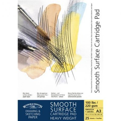 Bloco de Papel Winsor e Newton Smooth Surface 220g/m2 A3