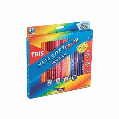 Lápis Tris 60 Cores em Estojo